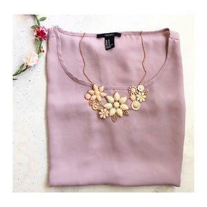 Jewelry - Bib Flower Pastel Necklace